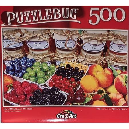 Colorful Mexican Souvenirs Puzzlebug 500 Piece Jigsaw Puzzle