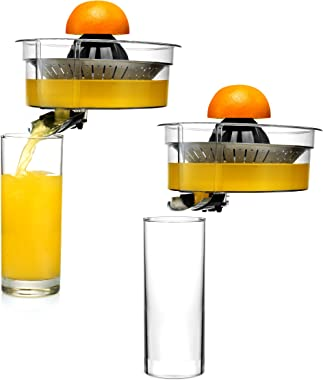 Eurolux ELCJ-1700 Electric Citrus Juicer Squeezer, for Orange, Lemon, Grapefruit, Stainless Steel 160 Watts of Power Soft Gri