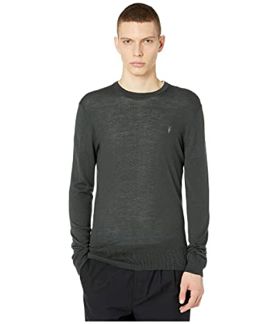 AllSaints Mode Merino Crew Sweater (Bracken Green) Men