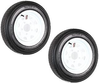 2-Pack eCustomrim Trailer Tire On Rim 5.30-12 12 in. Load C 5 Lug White Spoke