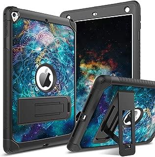 BENTOBEN Case for iPad 5th/6th Generation, iPad 9.7inch 2017/2018 Case, iPad Air 2 Case, iPad Pro 9.7 Case, Hybrid Shockproof Glow in The Dark Luminous Protective Kickstand Cover, Mandala in Galaxy