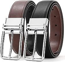 SOPONDER Belts for Men,Mens Reversible Leather Belts Six Colors All Sizes