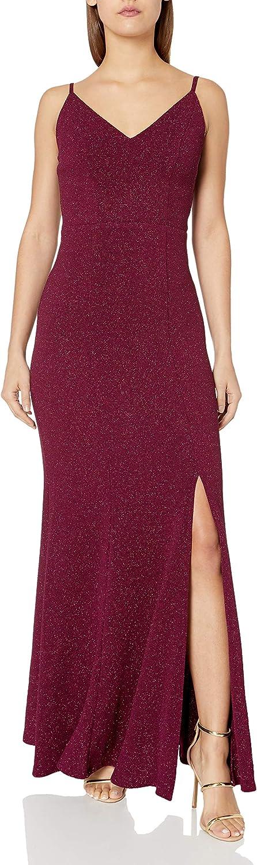 Speechless Women's Full Length Shimmer Party Maxi Dress