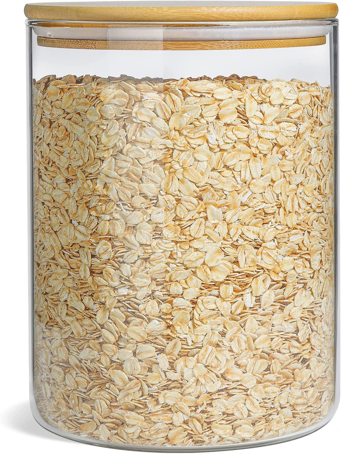 ComSaf Glass New Shipping Free Shipping Jar with Airtight Lid Liter 3 OZ Large trust 101FL Gla