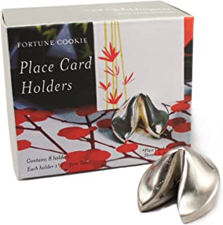Silver Fortune Cookie Place Card Holders (Set of 8)