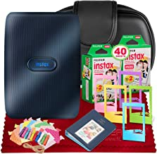 $139 » Fujifilm Instax Mini Link Smartphone Printer (Dark Denim) + Case, Instax Mini Twin Film (40 Exposures), Fuji Photo Album, an Assortment of Frames & Fibertique Microfiber Cleaning Cloth