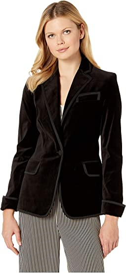 Stretch-Velvet Blazer