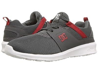 DC Kids Heathrow (Little Kid/Big Kid) (Grey/Dark Red) Boys Shoes