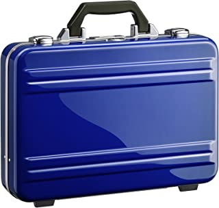 2.0 Small Classic Framed Polycarbonate Attaché Briefcase, Blue, One Size
