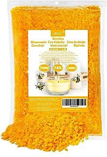 Cire d'abeille JBEIY pour la fabrication de bougies, cire d'abeille jaune Premium 500g pour la fabrication de bougies, rou...