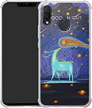 HHDY Compatible with Huawei P Smart+ 2018 Case,[Ultra Lightweight] Reinforced [4-Corners Bumper] Flexible TPU [Pattern Design] Cover for Huawei Nova 3i / P Smart+ / P Smart Plus 2018,Deer & Starry