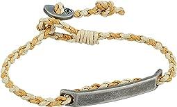 Fossil Defender Brass and Leather Bracelet