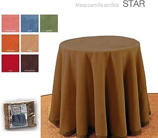 mantel Falda para Mesa Camilla Redonda Hogar Decorativa