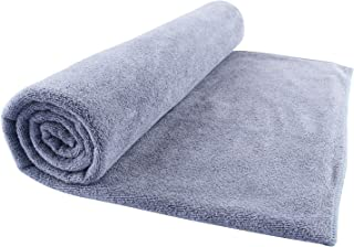Microfiber Bath Towel Bath Sheets 1 Pack (32 x 71 Inch) Oversized Extra Large Super Absorbent Quick Fast Drying Soft Eco-Friendly Towels for Body Bathroom Travel (1PCS Grey)