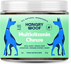 Natural Dog Daily Multivitamin Treats   Support Hip & Joint, Skin & Coat, Immune Booster, Heart Health & Digestive System ...