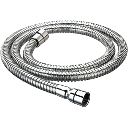 Large 11mm bore Shower head hose 2.0m pipe bath double lock stainless steel 2.0