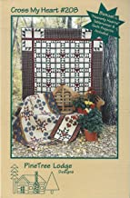 PineTree Lodge Designs Pattern #208 - CROSS MY HEART - Wall Hanging 36