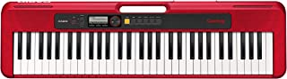 Casio CT-S200RDAD 61 Key Portable Electronic Keyboard in Red with Dance Music Mode and AC Adapter