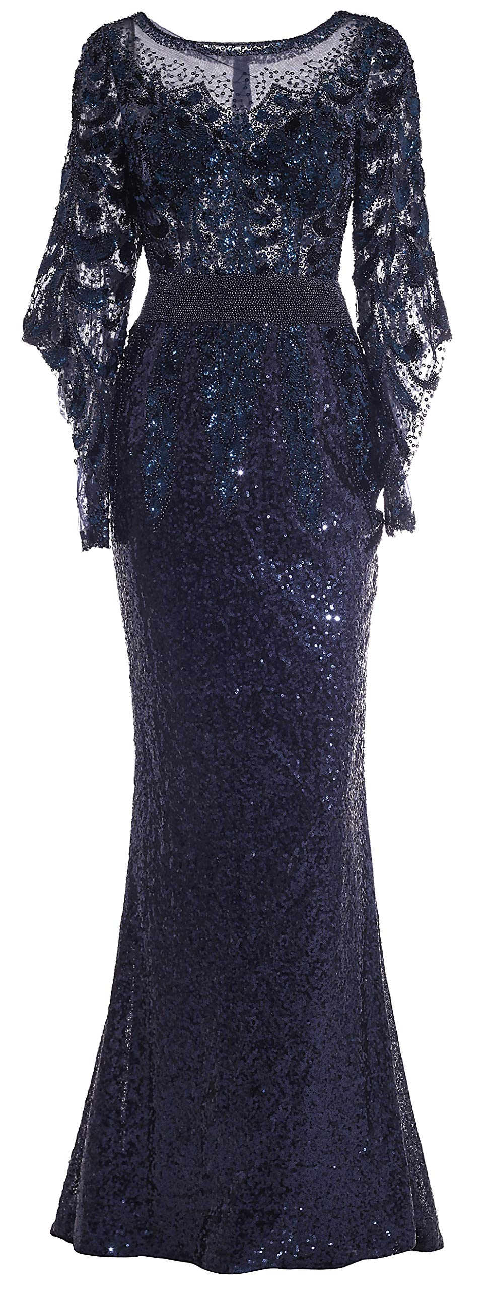 Meier Womens Sequin Formal Sleeves