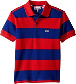 Lacoste Kids - Short Sleeve Bar Stripe Polo (Infant/Toddler/Little Kids/Big Kids)