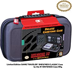 Officially Licensed Nintendo Super Nintendo Entertainment System Carrying Case – Protective Deluxe Travel System Case – Gr...
