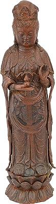 Design Toscano Déesse Guan-Yin Sculpture, Rouge, 12,5 x 10 x 44,5 cm