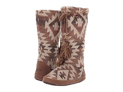 M&F Western Brandi Boot Slipper (Brown/Cream/Multi) Women