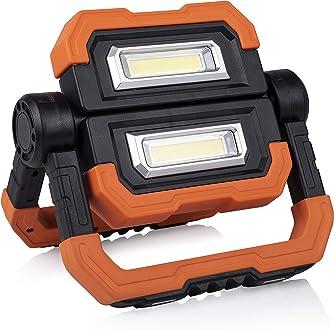 Travaux Chantier Smartwares FCL-80117 Projecteur LED Rechargeable 10 W Bricolage Garage Intensit/é R/églable