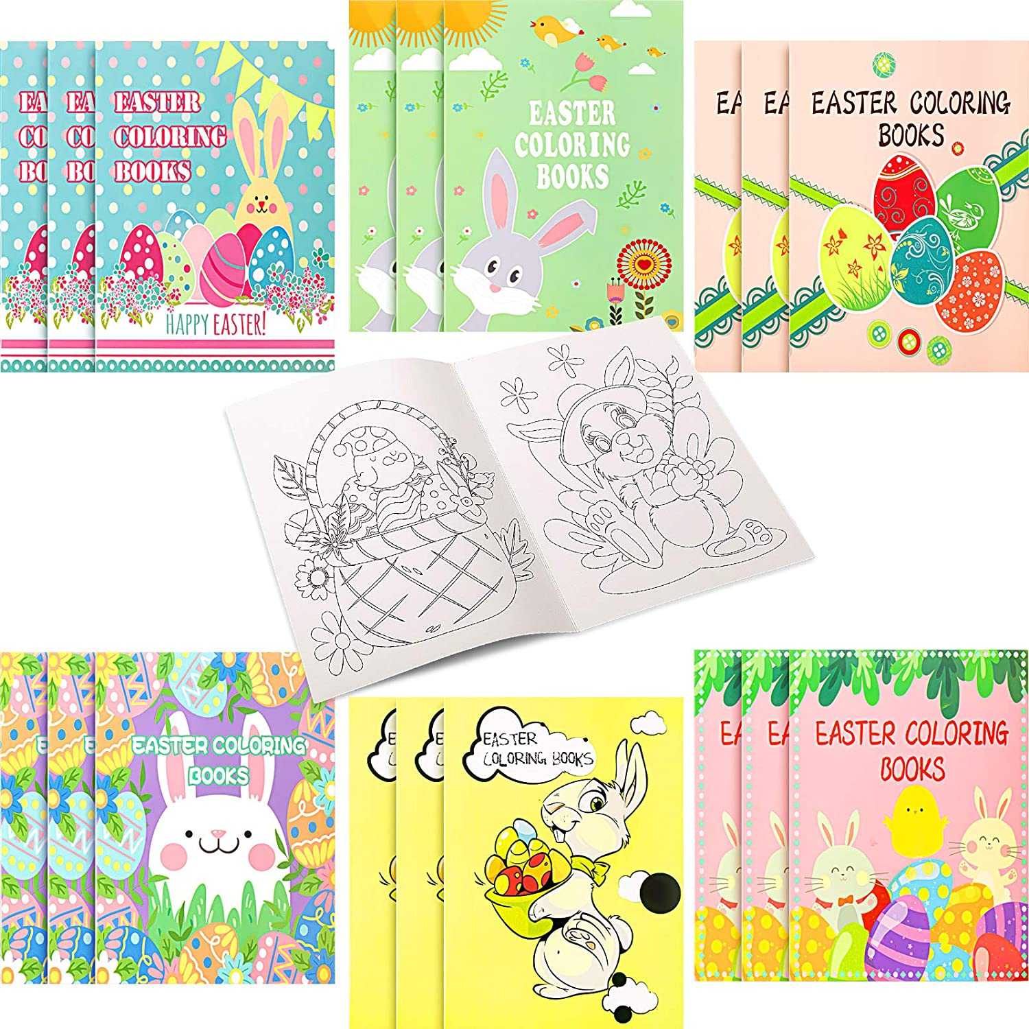 Zonon 18 Pieces EasterColoring Books for NEW before selling ☆ Clearance SALE! Limited time! Kids Easter C Happy