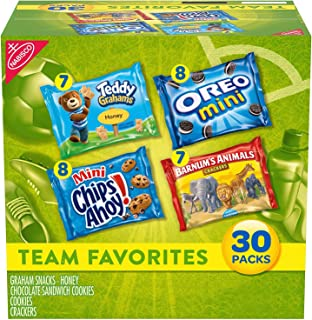 Nabisco Team Favorites Variety Pack, OREO Mini, CHIPS AHOY! Mini, Teddy Grahams Honey & Barnum's Animal Crackers, Hallowee...