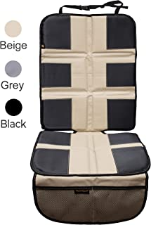 Car Seat Protector by Shmidt'S - Luxury Car Seat Cover Summer/Winter for Baby & Child - Anti-Slip, Heavy Duty Car Seat Mat Protector for Infants W/Upholstery, Beige/Tan