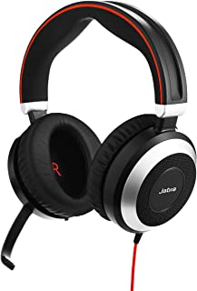 Jabra Evolve 80 Stereo Headset for PC, Laptop, Mobile Phone, Smartphone, softphone and Tablet