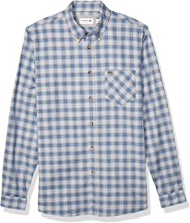 Lacoste Men's Long Sleeve Oxford Button Down Collar Regular Fit Woven Shirt, CH4976