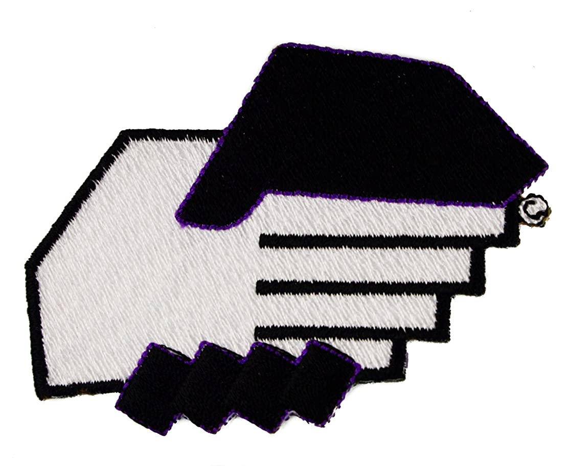 Black & White Shaking Hands Positive Race Relations Small Embroidered Patch