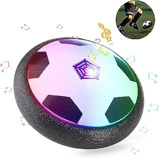 ZWOOS Juguete Balón de Fútbol Flotante Pelota Suspensión de Aire con Luces LED y La Música para Jugar Fútbol en Casa (Baterías no Incluidas)
