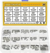 Sutemribor 200Pcs M2 M2.5 M3 M4 Slotted Spring Pin Assortment Kit, 304 Stainless Steel