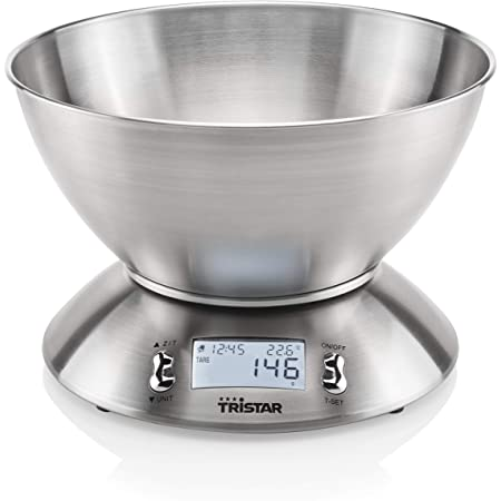 Balance de cuisine Tristar KW-2436 – 5 kg – Acier inoxydable