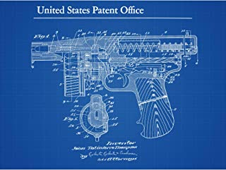 Thompson Tommy Breech Mechanism Gun 1922 Detail 2 Patent Extra Large XL Wall Art Poster Print