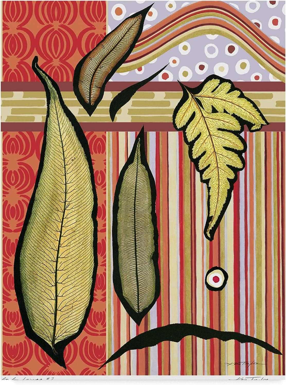 Trademark Fine Art Go Leaves Ii Art by Kris Taylor, 14x19