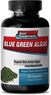 Pure Herbal Supplement - Klamath Blue Green Algae 500mg - Increase Energy Levels, Improve Digestion and Enhance Immune Sys...