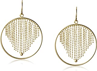 Circle with Center Fringe Drop Earrings