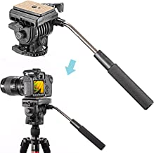 Neewer Video Camera Tripod Fluid Drag Pan Head with 1/4 inch Quick Shoe Plate for Canon Nikon Sony DSLR Cameras Camcorder Shooting Filming,Load up to 8.8 pounds/4 kilograms
