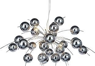 """Naeve Leuchten C, lampa wisząca """"eXplosion"""", szkło, 20 W, G4, 98 x 98 x 150 cm, chrom 7030942"""
