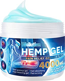 Hemp Joint & Muscle Active Relief Gel- High Strength Hemp Oil Formula Rich in Natural Extracts. Soothe Feet, Knees, Back, Shoulders - Max Strength & Efficiency - Made in USA - 4000 mg / 4 oz