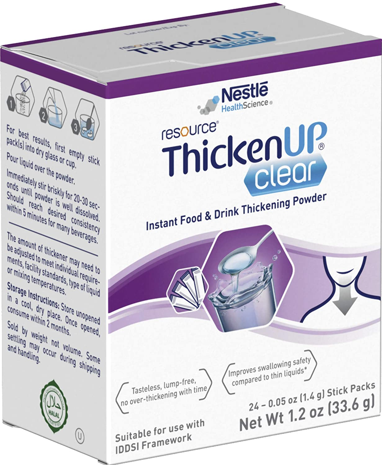 Resource Thicken Up Clear Packets 24 – 0.05 once sticks (pack of 12).
