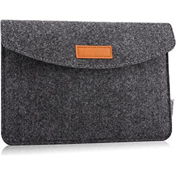"MoKo 9-11 Inch Tablet Felt Sleeve Case Fits iPad 7th Generation 10.2, iPad Pro 11 2020/2018, iPad Air 3, iPad Pro 10.5, iPad Air 2, iPad 6th Gen 9.7"", Surface Go 2 10.5, Galaxy Tab A 10.1 - Dark Gray"