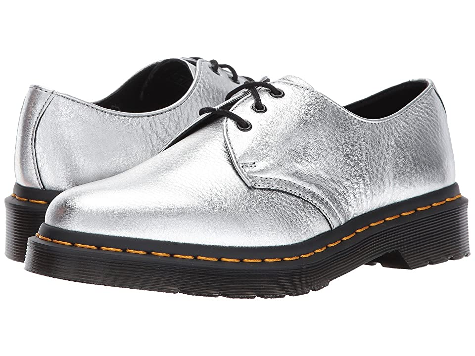 Dr. Martens 1461 Metallic 3-Eye Shoe (Silver Santos) Women