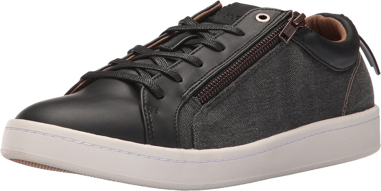 ALDO Men's Astian Fashion Sneaker, Black Leather, 11 D US