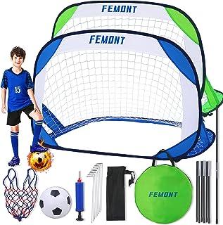 femont Folding Pop Up Soccer Goals Set,2 Packs Portable...