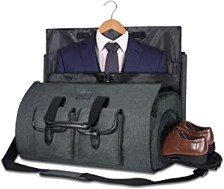 Carry-on Garment Bag Large Duffel Bag Suit Travel Bag Weekend Bag Flight Bag with Shoe Pouch for Men Women (Dark Gray2)
